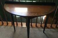 "Hitchcock furniture half round table 33"" wide by 30"" high"