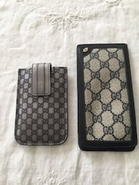 grey and black gucci leather pouch Ashburn, 20147