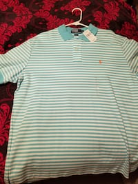 green and white striped polo by ralph lauren polo shirt Roanoke, 24012