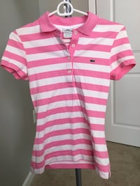 Pink and white womens Lacoste polo shirt Arlington, 22201