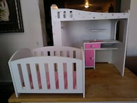 Baby doll crib & changing table $15 for both