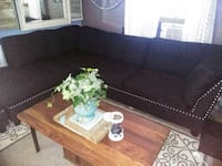 Black Studded sectional with matching ottoman Vallejo, 94590