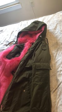 Army Green and pink winter coat  Capitol Heights, 20743