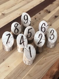 Handmade Wood Table Number Markers