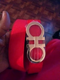 red Salvatore Ferragamo leather belt Pasadena, 77503