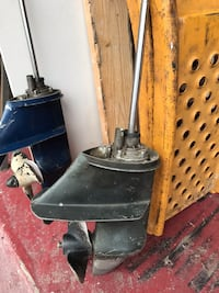 Lower units 9.5 hp Johnson blue one have new water pump. Both working  Palm Bay, 32907