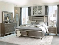 Queen Bed, dresser, mirror, nightstand  Houston, 77036