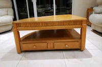 brown wooden framed glass top coffee table Lake Worth, 33467