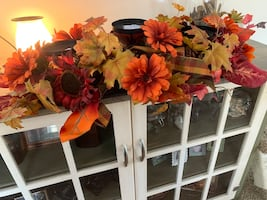 Thanksgiving table candle holder center piece