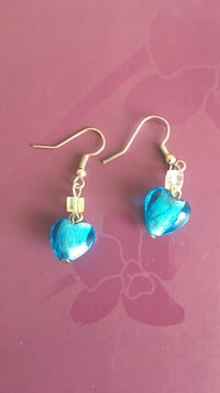 pair of blue-and-silver hook earrings Brampton, L6Y 4H5