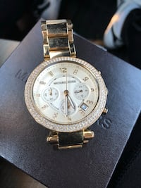 Round gold-colored michael kors chronograph watch Sterling, 20165