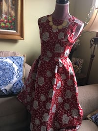 women's red and black floral dress Brampton, L6V 3X3
