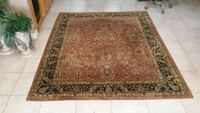 brown and black floral area rug Mission, 78572