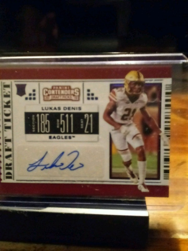 new concept 522ab c1a2a 2019 PLAYOFF DRAFT TICKET LUKAS DENIS AUTOGRAPH