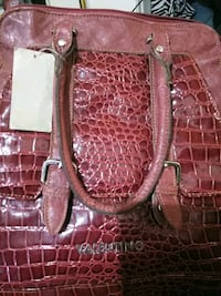 brown leather crocodile skin tote bag Bakersfield, 93307