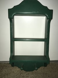 Very nice wooden green shelf  Kettering, 45440