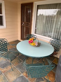 Outdoor patio table and four chairs
