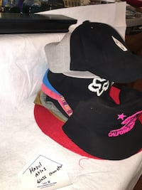 black and red Air Jordan cap Frederick