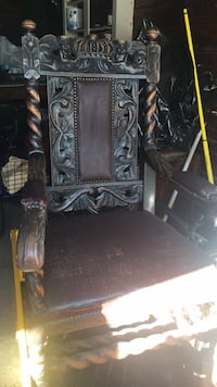 Brown wooden english chairs qty 2  Newport Beach, 92661