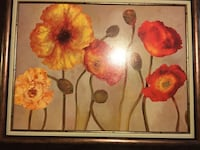 Beautiful large poppy oil painting with bronze antiqued frame   Marietta, 30060