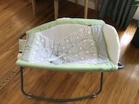 Fisher Price Baby's white and green bassinet San Jose, 95124