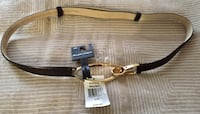 Beautiful Brown and Gold Ellen Tracy Belt (Expandable, One Size Fits All) Sterling
