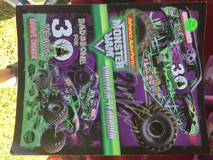 Photo Monster Jam book (approx 9 x 12) with autographs $40.00
