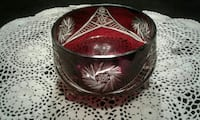 round red and gray glass translucent bowl Bourg, 70343