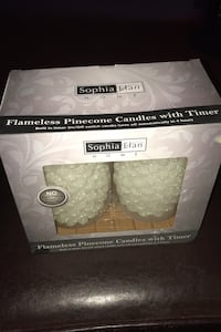 Sophia elan flameless pine cone candles with timer Bayville, 08721