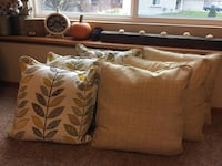 Brown and white floral fabric sofa Lincoln, 68512