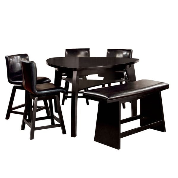 High top kitchen table with bench & chairs