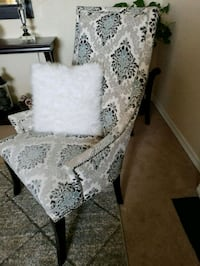 white and black floral padded chair Milliken, 80543