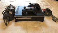 Black xbox 360 console with 2 controllers 943 mi