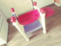 toddler's pink and white plastic chair Joliette, J6E 3N9