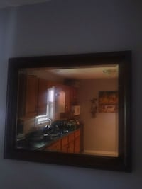 rectangular wall mirror with brown wooden frame Dartmouth, B2W 5Z9