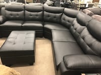 Leather sectional  Elgin