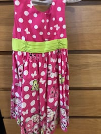 Red and white polka dot & butterfly sun dress. Excellent condition. Size 6 yrs Langley, V3A 0A3