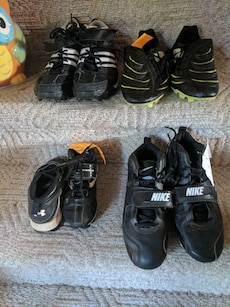 Different sized cleats
