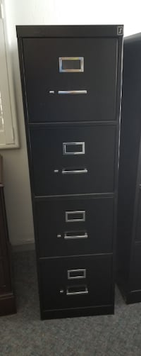 HON and Staples File Cabinets null