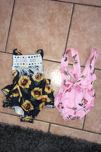 0-3 months cute summer rompers