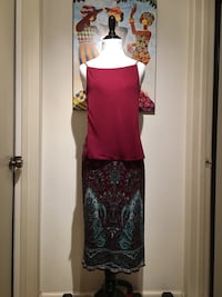 Yigal azrouėl skirt & top ~ multicolored, size 0