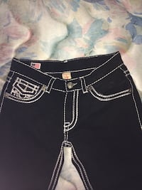 Black and white true religion bottoms