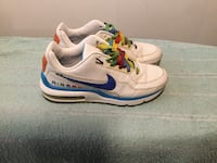 White-and-blue nike air max shoes Baltimore, 21206