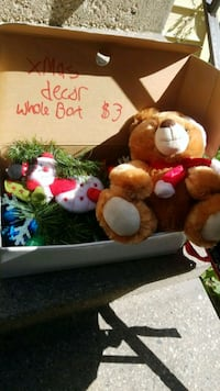 two white and red bear plush toys Winnipeg