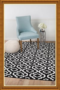 new modern style Area Rug size 5x7 nice black and white carpet rugs  Burke, 22015