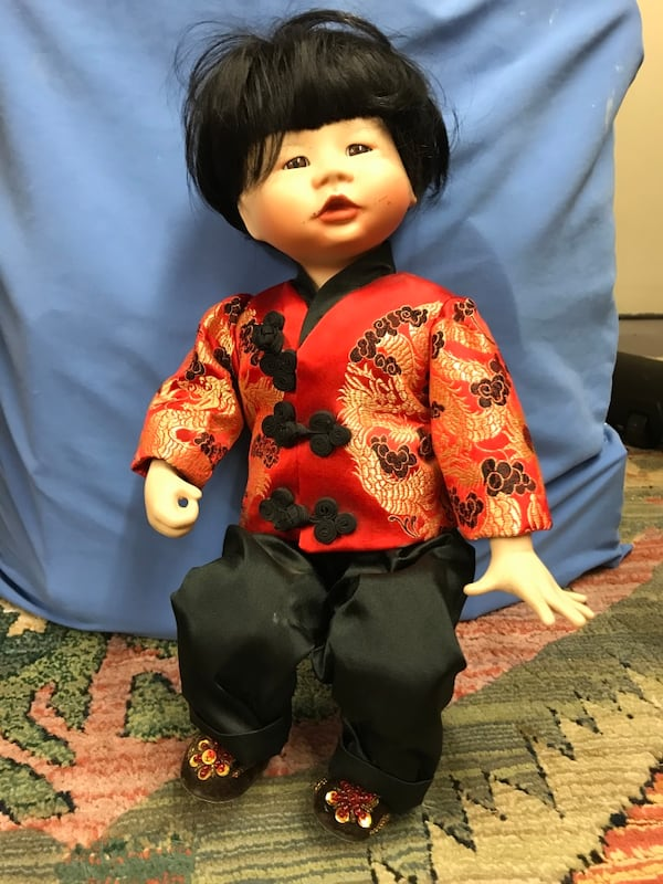 Collectible Chinese Boy Porcelain Doll 699bee0a-d945-4136-b60f-2ba9468aad16