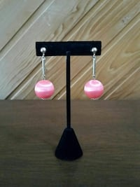 PINK DROP EARRINGS  Lynnfield, 01940
