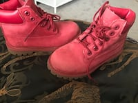 Red timberlands kids size 10 Burnaby, V3N 4S2