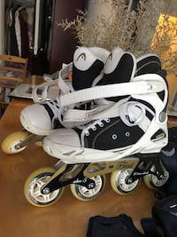 Inline Skates for Adults +knee, elbows pads, wrist guards and a bag.