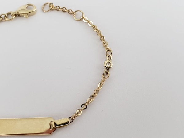 10k Yellow Gold Baby ID Bracelet 2